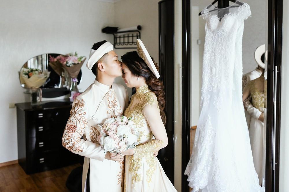 Вьетнамские свадебные платья