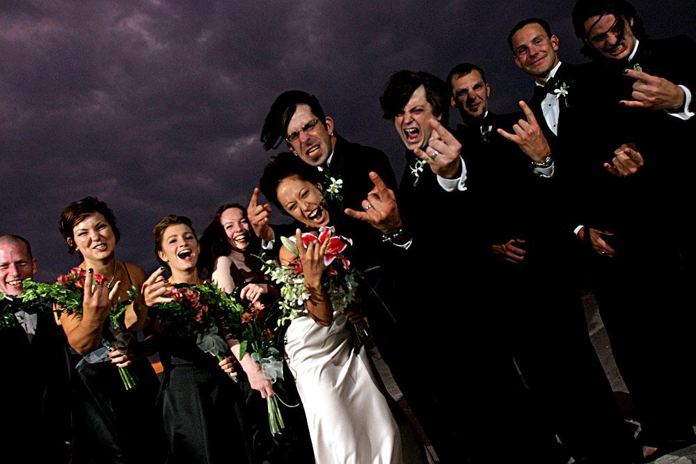 Свадьба в стиле хеви метал