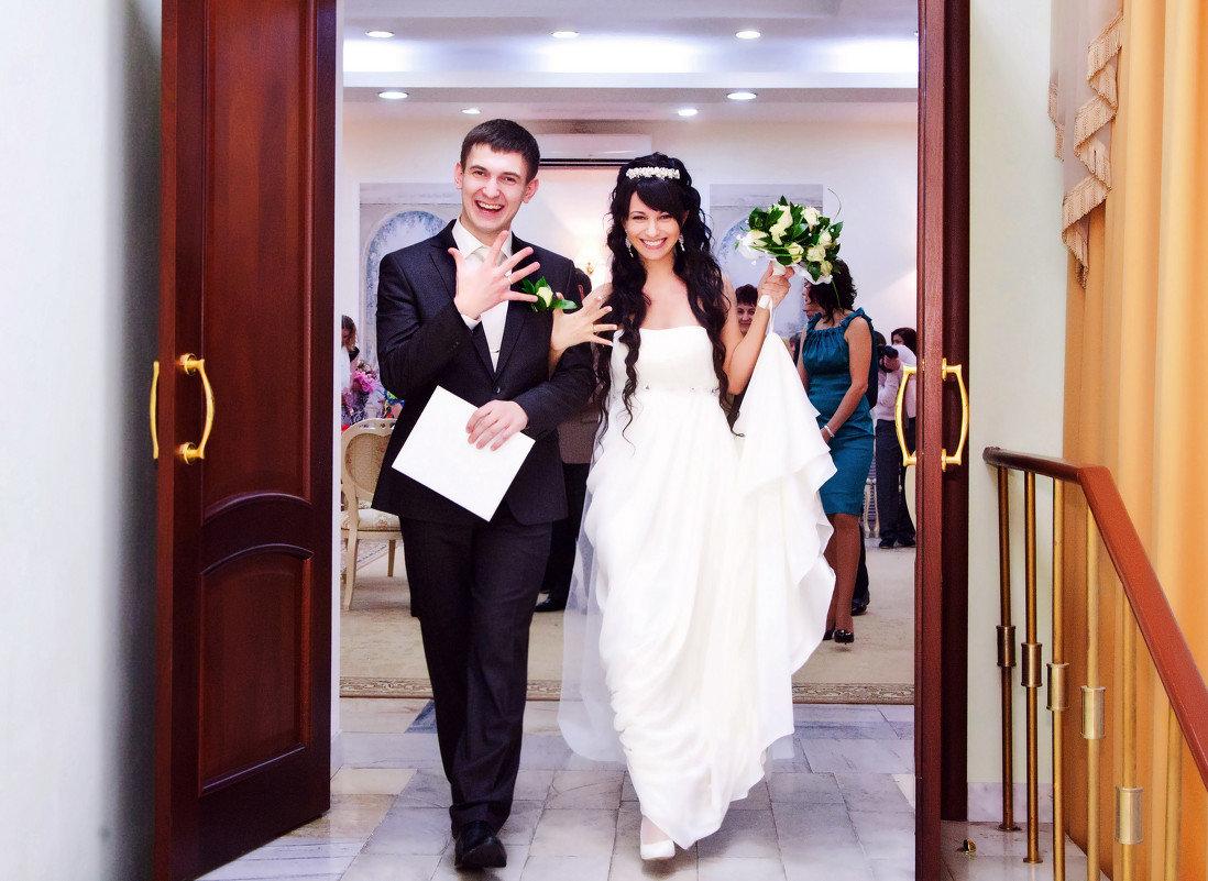Фото свадьбы в загсе
